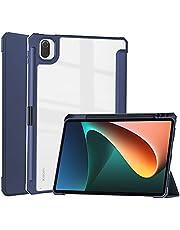 Acelive Fodral till Xiaomi Mi Pad 5/Mi Pad 5 Pro 11 tum med genomskinlig genomskinlig baksida automatisk väckning/sovskydd