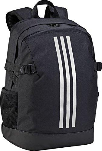 adidas 3-Stripe Power Schoolbag/Backpack - Black/White - Medium