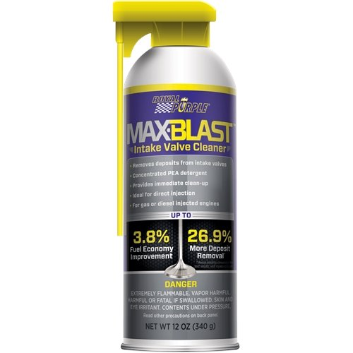 (Royal Purple 11853 Grey/Purple/Black/Yellow Max-Blast Intake Valve Cleaner, 12 oz)