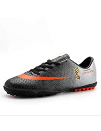Children's Soccer Shoes/Soccer Cleats/Football Boots Football/Soccer Anti-Slip, Low-Top Women's Sneakers,Long Spike Training Shoes,Breathable PU (Color : C, Size : 34)