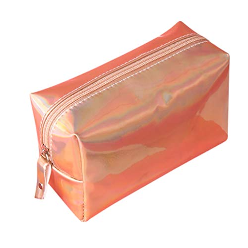 Cosmetic Bags for Women,YuhooSUN Magic Color Waterproof Lipstick Storage Clutch Bag Facial Cleanser Skincare Kit Pouch Rose Gold (Longchamp Canvas Toiletry Kit)