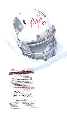 - Rob Gronkowski New England Patriots Signed Autograph RARE ICE Speed Mini Helmet JSA Witnessed Certified