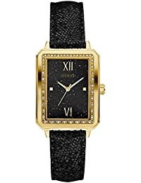 Factory Women's Black and Gold-Tone Rectangle Watch