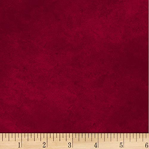 P & B Textiles Suede 6 Dark Red Fabric by The Yard -  302-SUE6-DR