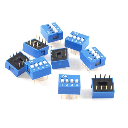 e Double Row 8 Pin 4 Positions 2.54mm Pitch DIP Switch (8 Pin Dip Package)