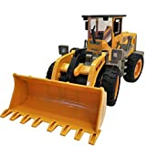 RC Car Toys 1:8 Excavator Shovel Construction Bulldozer Truck Model Kit Light Sound Large 6-way Simulation 6 Channels Engineering Cars Clearance (Yellow)