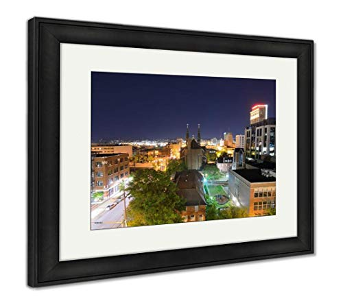 (Ashley Framed Prints Downtown Birmingham, Alabama, Wall Art Home Decoration, Color, 34x40 (Frame Size), Black Frame, AG32675273)