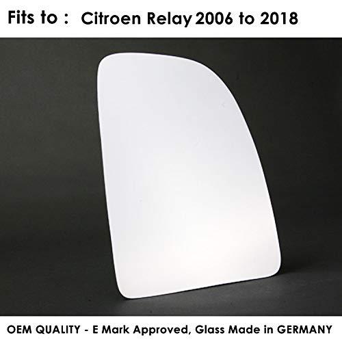 Passenger Side FIDoblo 2009 to 2017 Silver Door Mirror Glass LH