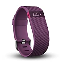 Fitbit Charge HR Heart Rate and Activity Wristband, Large (Plum)