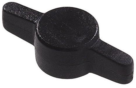 4-Pack 3//8-Inch Black Nylon The Hillman Group 59185 Wing Knob