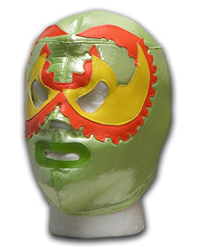 Mayan Outfit (WRESTLING MASKS UK Men's Warrior Mayan - Tie Up Mask One Size Green)