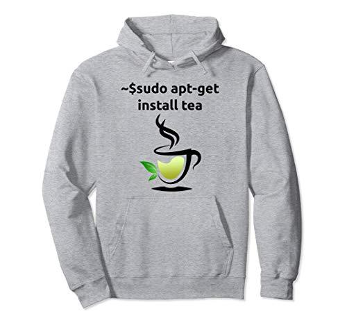 Linux Sudo Apt-Get Install Tea Hoodie, Unix Geek Gift Hoodie