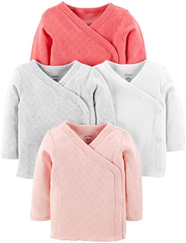 Carters Baby Girls 4 Pack Side Snap product image