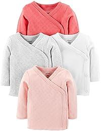 Baby Girls' 4 Pack Kimono Tees