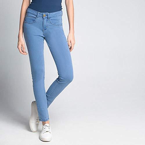 Calça Luigi Bertolli Feminino Skinny Jeans Azul Claro