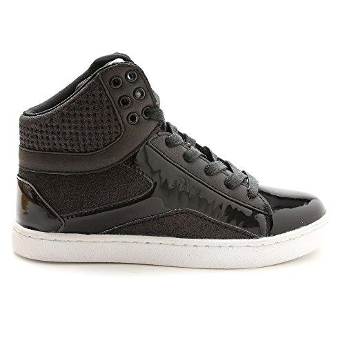 Pastry Adult Pop Tart Glitter Dance Sneaker, Black, Size 12