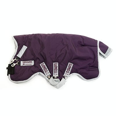 Horseware, Rambo Wug, Turnout Blanket - Heavy Wright 400G - Purple/Silver, 75