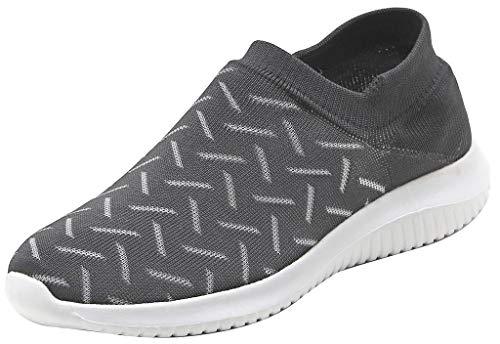 on Slip Zapatos Pareja Women's Sneaker Gris Unisex Gimnasio Correr Transpirable Entrenador Ligero Shoes Caminando Simplec Calcetines zvC7dqd
