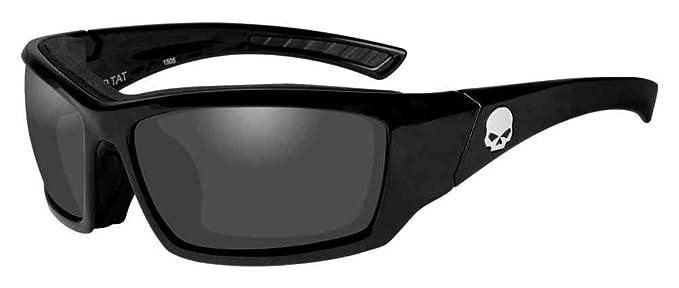 Harley-Davidson Mens Tat Skull Gasket Sunglasses, Gray Lens/Black Frame HATAT01