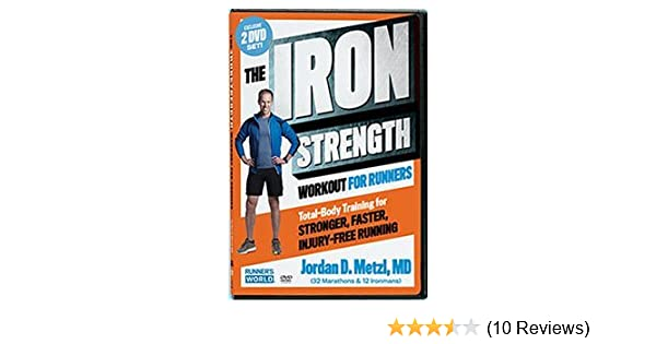 photograph relating to Iron Strength Workout Printable titled The Iron Electricity Exercise routine for Runners World wide Jordan Metzl, MD 2 DVD Established