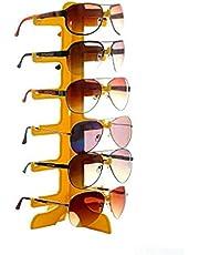 Hainice Sunglasses Display Rack Countertop Plastic 6 Pairs Eyeglasses Shelf Show Stand Holder White