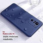 Mobistyle Soft Silicone Slim Matte Liquid Silicone TPU Shockproof Slim Back Cover Case for Redmi Note 10/Redmi Note 10S…