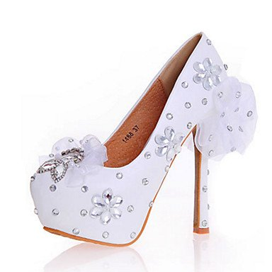 White Applique Leather Women'S Dress amp;Amp; 5 Sparkling Us5 Cn34 Uk3 Eu35 Novelty CN42 Evening Heels Wedding Comfort Summer Party EU41 10 US9 Fall Heelcrystal Zormey Spring UK7 Stiletto 8 Patent 5 Uca8dqqw