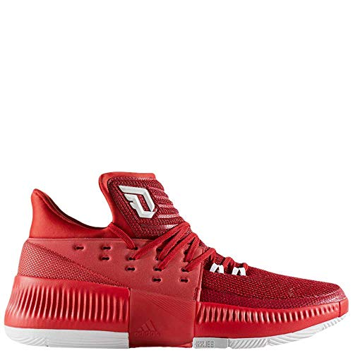 Adidas Men's Dame 3 Power Red/Footwear White Grey Ankle-High Basketball Shoe - 11M