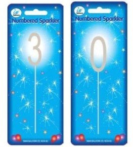 Image Unavailable Not Available For Colour Sparkler Sparkling Number Birthday Cake Candle