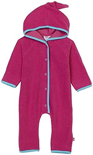 Zutano Infant Baby-Girls Cozie Bold Stripe Fuchsia Elf Romper, Fuchsia, 18 Months