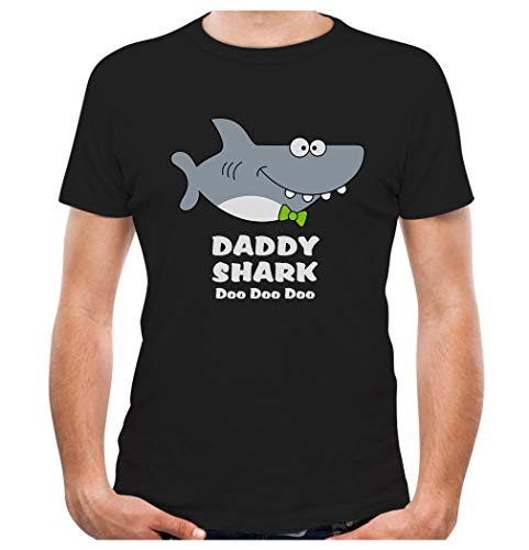 Daddy Shark Doo doo doo Fathers Day Men's T-Shirt XX-Large Black