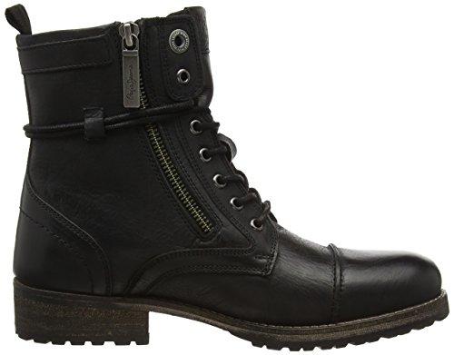 Black para Negro Pepe London Jeans Melting 999 Zipper Mujer Botas W AOYzwx