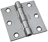 National Hardware N139-733 504BC Removable Pin Broad Hinge in Plain Steel, 2-1/2""