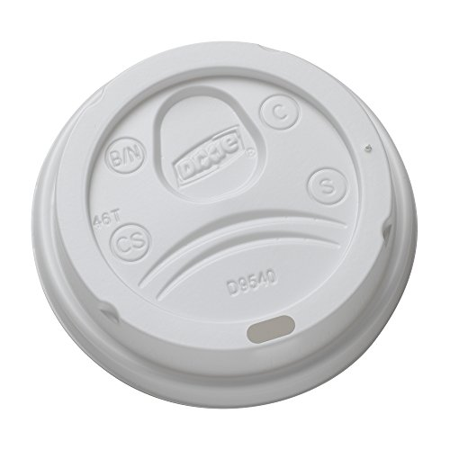 Dixie 10 oz. Dome Hot Coffee Cup Lids by GP PRO (Georgia-Pacific), White, DL9540, 1,000 Count (100 Lids Per Sleeve, 10 Sleeves Per Case)