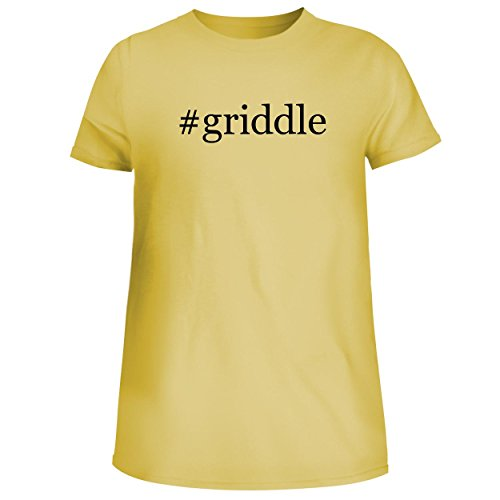 BH Cool Designs #Griddle - Cute Women's Junior Graphic Tee, Yellow, ()