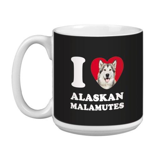 Tree Free Greetings XM28991 I Heart Alaskan Malamutes Artful Jumbo Mug, 20-Ounce
