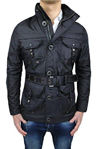 estiva estiva estiva fit slim uomo nero estivo giubbotto giacca Trench impermeabile impermeabile impermeabile impermeabile casual wA0zgnx18