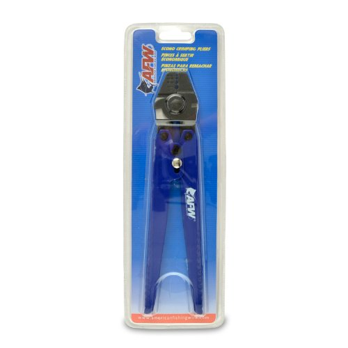 American Fishing Wire Econo Crimping Pliers (Blue/Black), Outdoor Stuffs