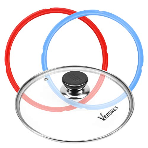5 or 6 quart Tempered Glass Lid , Silicone Sealing Rings