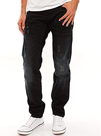 Homme G STAR RAW Jeans G Star 3301 Low Tapered Black Hydrite
