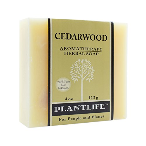 Cedarwood 100% Pure & Natural Aromatherapy Herbal Soap- 4 oz (113g)