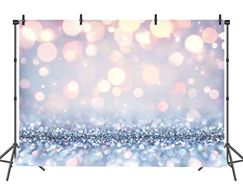White Glow Photography Backdrop (Not Glitter) Baby Photo Background Photo Booth Props 7x5FT