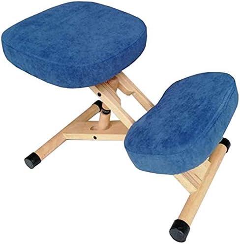 Gaojian Éponge Haute élastique Genoux Chaise Ergonomique Genoux orthopédique Ergonomique Posture Bureau Tabouret Chaise Assise en Bois,Bleu