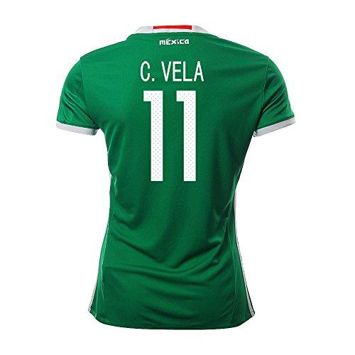 覚醒例外発症C. VELA #11 Mexico Women's Home Jersey COPA America Centenario 2016(Authentic name & number)/サッカーユニフォーム メキシコ ホーム用 C.ベラ レディース向け