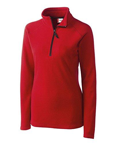 - Clique Women's Half Zip Microfleece Pullover, Red, XX-Large