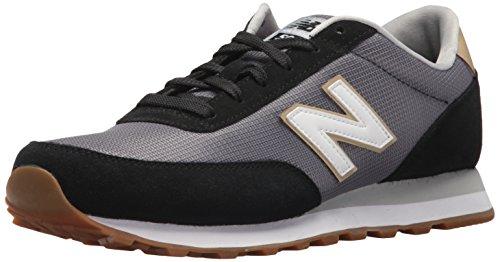 New Balance Mens 501V1 Sneaker  Black Castlerock  4 5 D Us