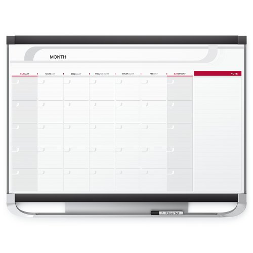 (Quartet Dry Erase Calendar Board, Planner, Magnetic Whiteboard, 3' x 2', Yearly, Total Erase Surface, Prestige 2 (CP32P2))
