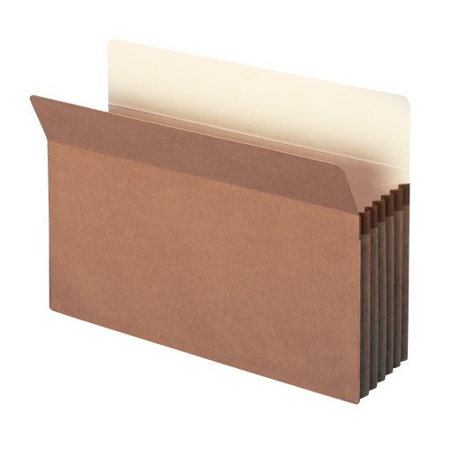 "Smead File Pocket, Straight-Cut Tab, 5-1/4"" Expansion, Legal Size, Redrope, 10 per Box (74234)"
