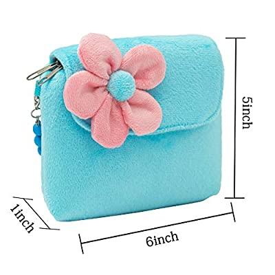 SOTOGO 13 Pieces Plush Purses Flower Handbag with Hair Clip, Necklace, Bracelet, Earrings Ring, Brooch and Rubber Bands for Little Girls and Toddlers: Toys & Games