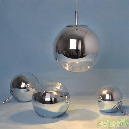 FidgetGear Tom Dixon Chrome Mirror Glass Ball Pendant lamp Ceiling Light Fixture 30/35/40cm 35cm(13.8